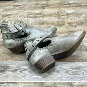 Rampage Sz 5 Trinity Ankle Boots Gray Western Shoe